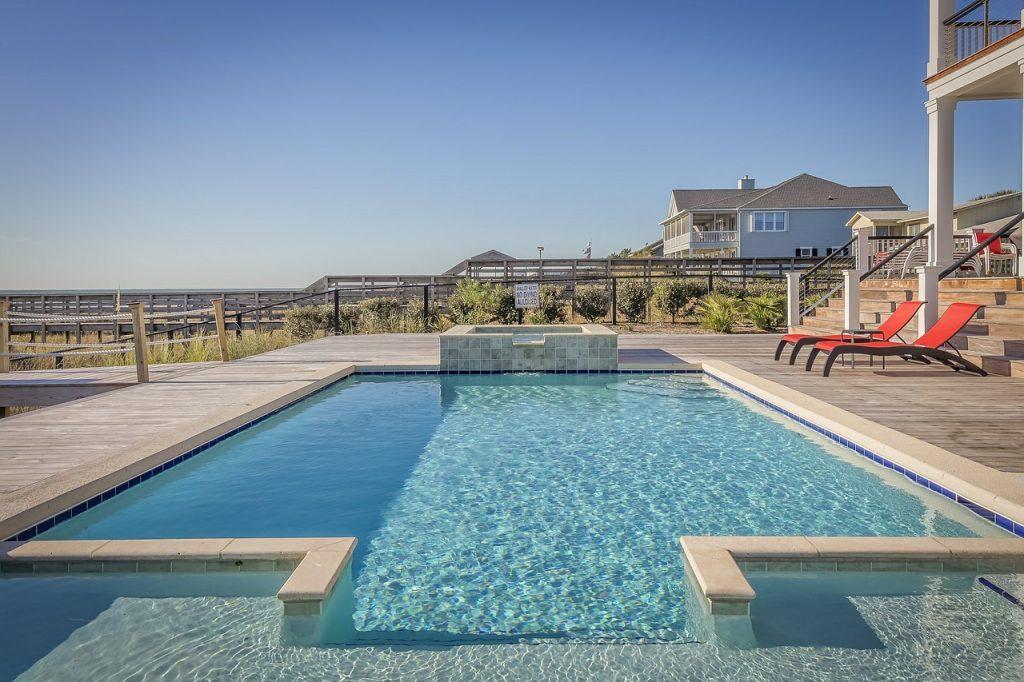 Pebble pool surface